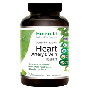 A bottle of Emerald Heart, Artery & Vein Health