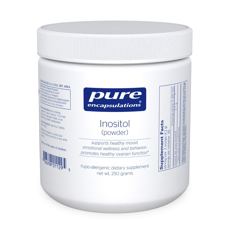 A jar of Pure Inositol (powder)