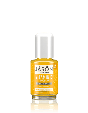 A bottle of Jason Vitamin E 14,000 IU Skin Oil