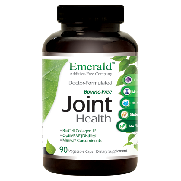 A bottle of Emerald Joint Health