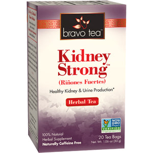 A box of Bravo Tea Kidney Strong Tea