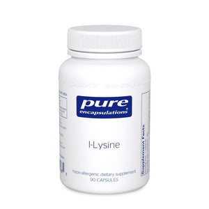 A bottle of Pure l-Lysine