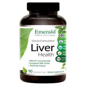A bottle of Emerald Liver Health