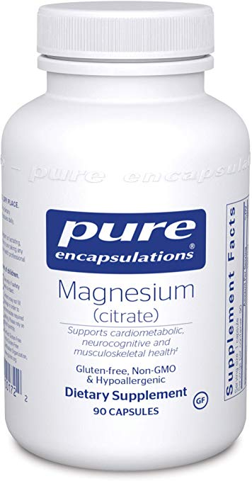 A jar of Pure Magnesium (citrate)