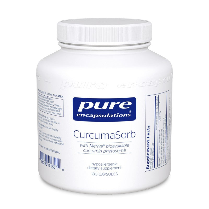 A wide bottle of Pure CurcumaSorb