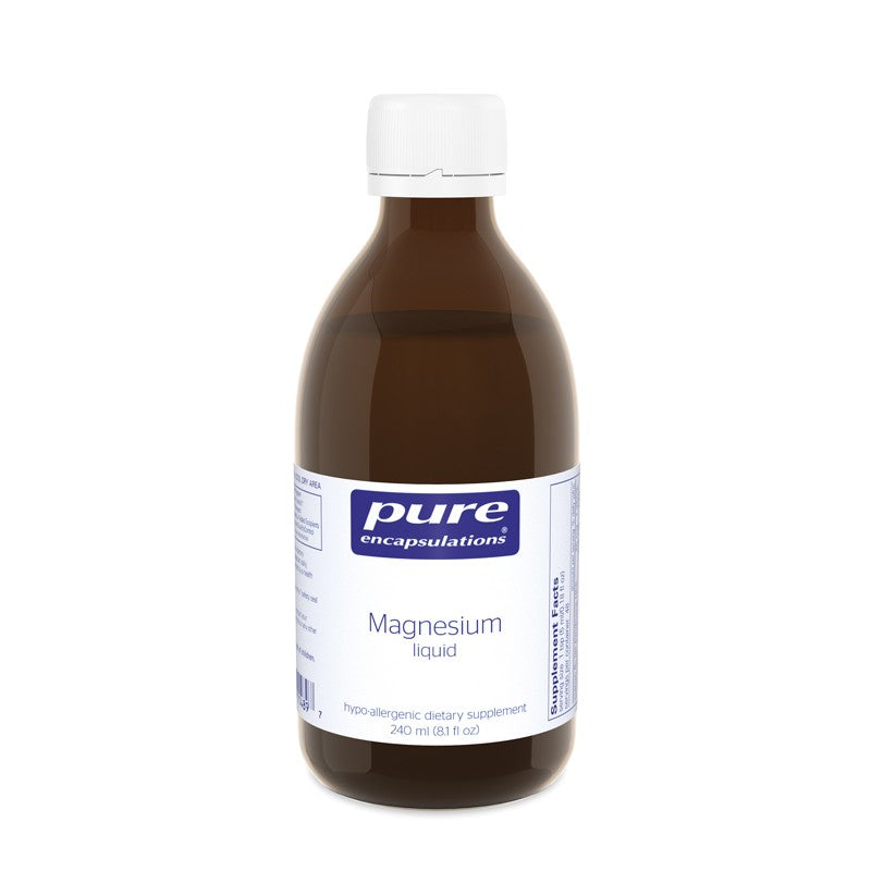 A bottle of Pure Magnesium liquid