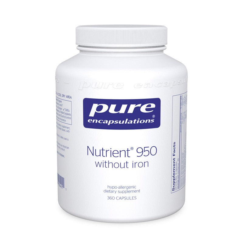 A jar of Pure Nutrient 950® without Iron