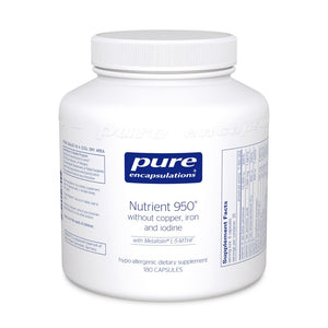 A jar of Pure Nutrient 950® without Copper, Iron & Iodine