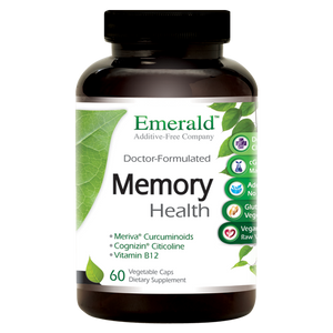 A bottle of Emerald Memory Health