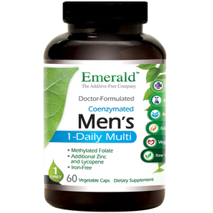 A bottle of Emerald Men's 1-Daily Multi