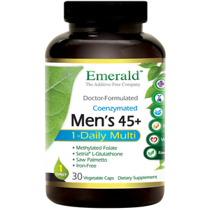 A bottle of Emerald Men's 45+ 1-Daily