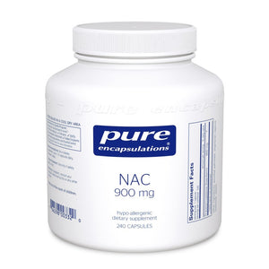 A jar of Pure NAC (n-acetyl-l-cysteine) 900 mg