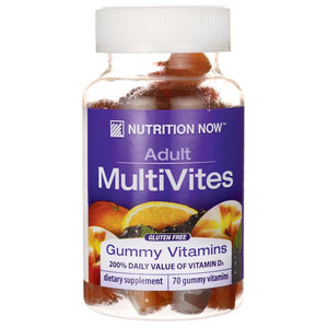 Jar of Nutrition Now Adult MultiVites Gummy Vitamins
