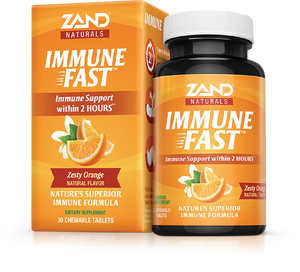 Immune Fast Orange Flavor  - Zand Naturals - 30 chewable tablets