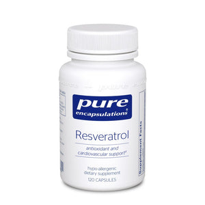 A bottle of Pure Resveratrol