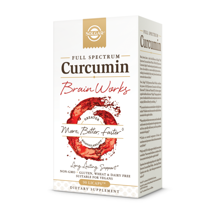Full Spectrum Curcumin Brain Works - Solgar