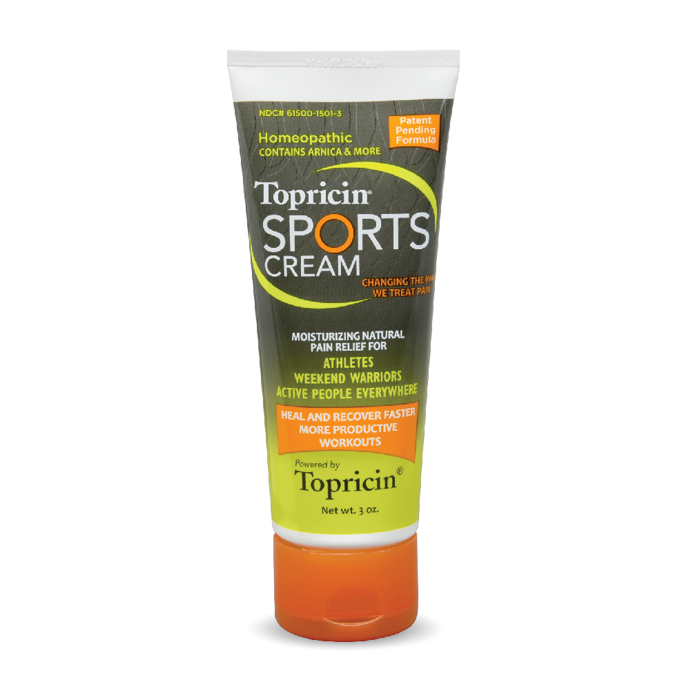 A tube of Topricin My Pain Away® - Sports Cream 3 oz