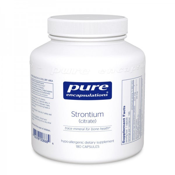A jar of Pure Strontium (citrate)