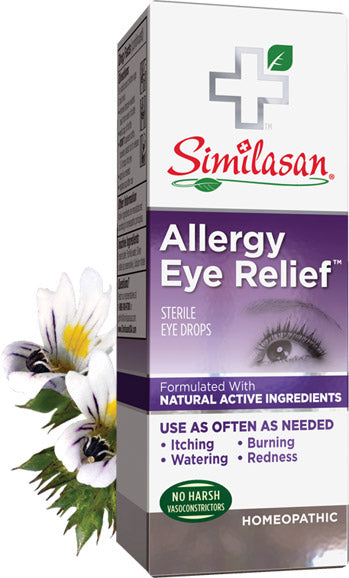A package for Similasan Allergy Eye Relief Drops
