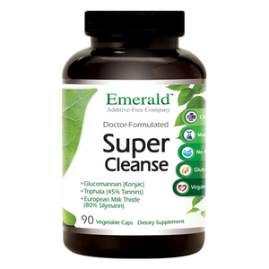 A jar of Emerald Super Cleanse