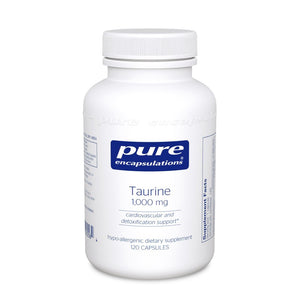 A bottle of Pure Taurine 1,000 mg