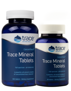 Two bottles of Trace Mineral Tablets