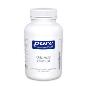 A bottle of Pure Uric Acid Formula