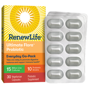 A package of Renew Life Ultimate Flora Everyday Go Pack 15 Billion