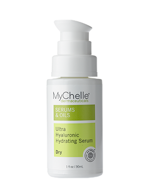 A bottle of MyChelle Ultra Hyaluronic Hydrating Cream