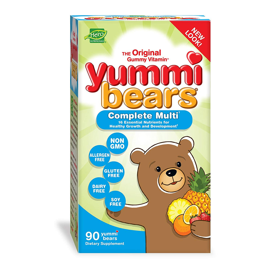 A package of Hero Nutritionals Yummi Bears Complete Multi