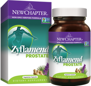 A package and bottle of New Chapter Zyflamend Prostate
