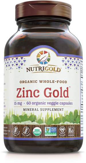 A bottle of NutriGold Zinc Gold