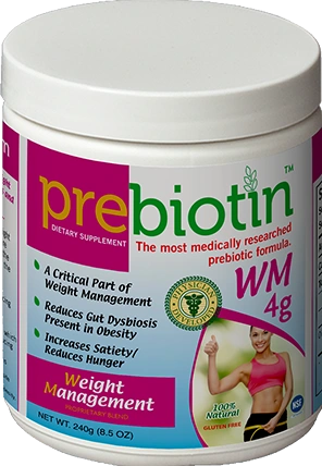 A jar of Prebiotin Weight Management