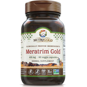 A bottle of NutriGold Meratrim Gold