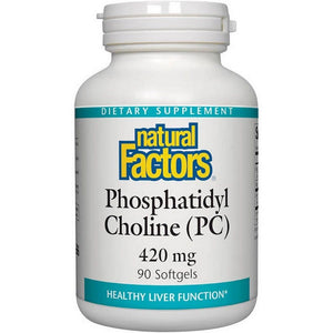 A bottle of Natural Factors Phosphatidyl Choline 420 mg