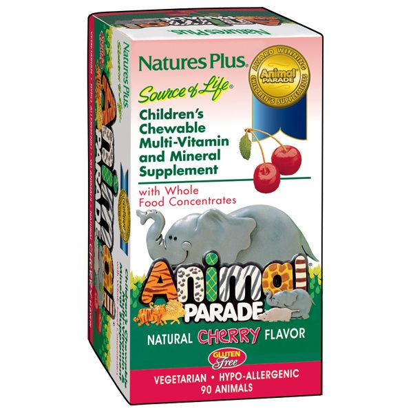 A package for Nature's Plus Animal Parade® Children's Chewable Multi Cherry
