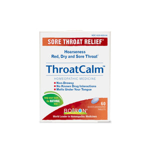 A package of Boiron ThroatCalm
