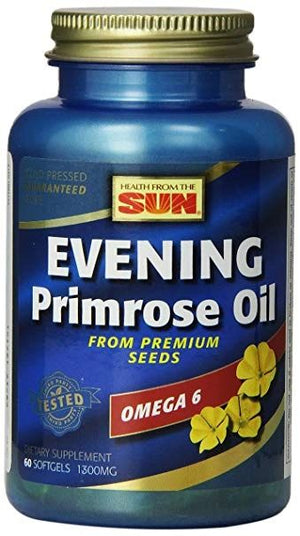 A bottle of Health from the Sun Evening Primrose Oil