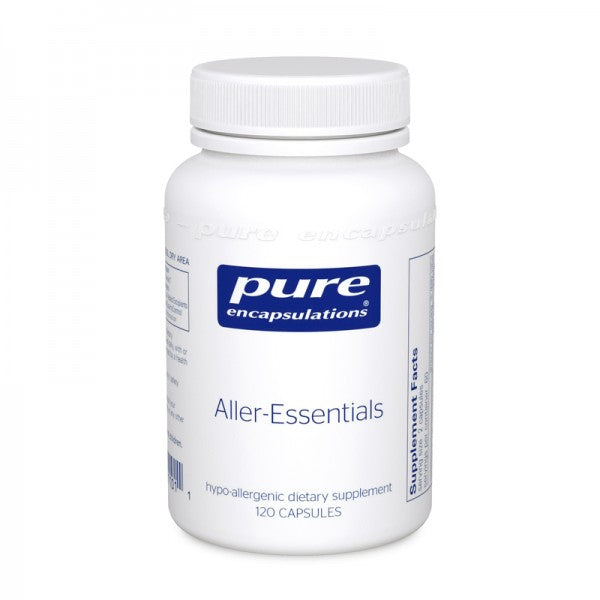A bottle of Pure Aller-Essentials