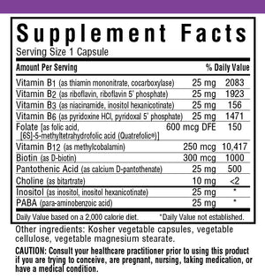 Supplement Facts  for Bluebonnet CellularActive® Coenzyme B-Complex
