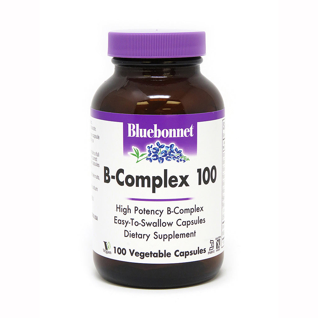 A jar of Bluebonnet B-Complex 100