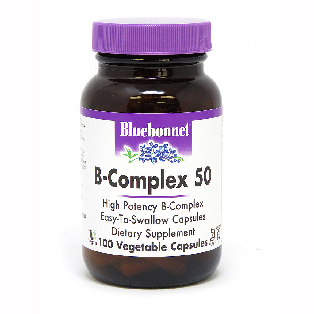 A jar of Bluebonnet B-Complex 50