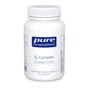 A bottle of Pure B6 Complex