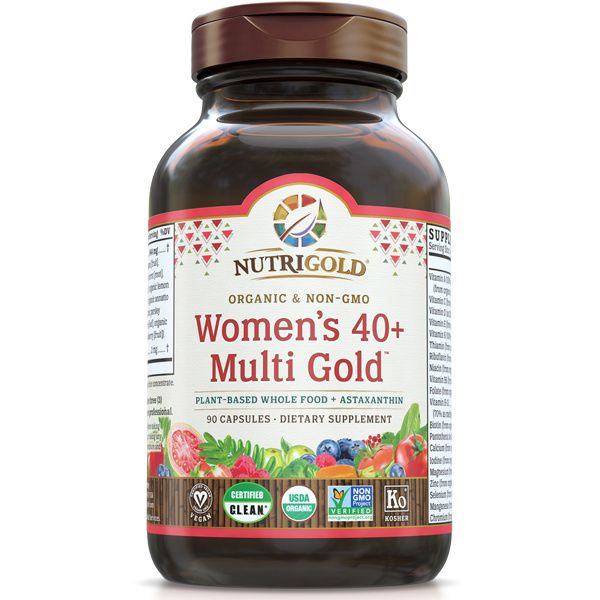 A bottle of NutriGold Women's 40+ Multi Gold