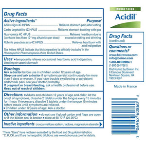 Drug Facts about Acidil