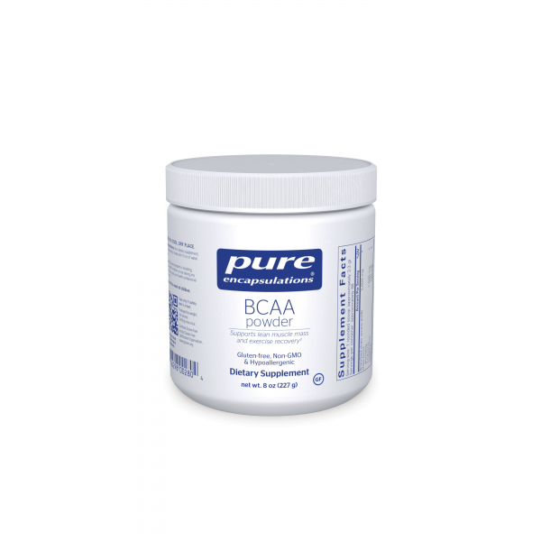 A jar of Pure BCAA Powder