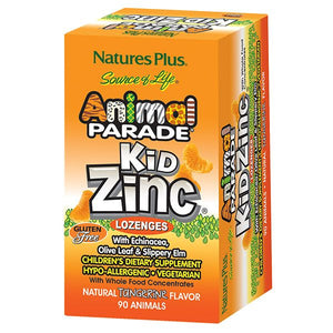 The package for Nature's Plus Animal Parade® KidZinc® Lozenges - Tangerine Flavor