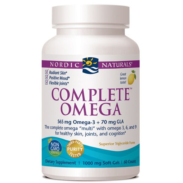 A bottle of Nordic Naturals Complete Omega