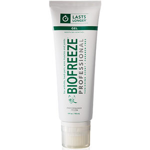 A tube of Biofreeze® Professional - Hands Free Applicator 4 fl oz