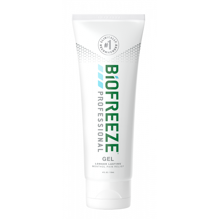 A tube of Biofreeze® Professional - Colorless Gel 4 fl oz